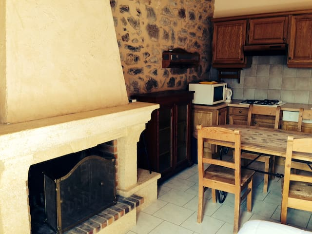 Joli Gîte, pierre, bois et cheminée - Sarcey - House