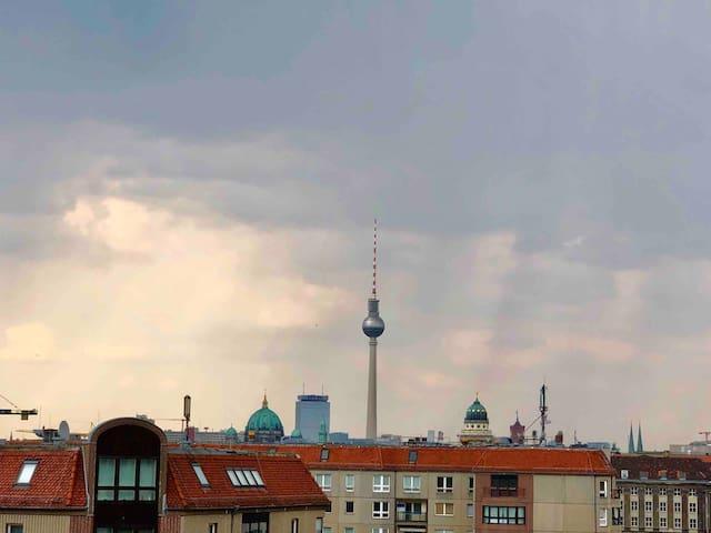 Penthouse 100 Meter vom Potsdamer Platz
