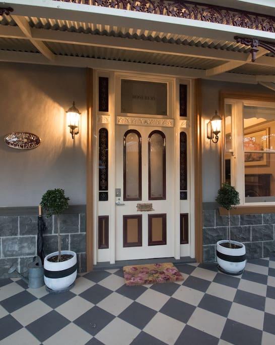 "Beautiful entranceway - ""Rosebery Cottage"""