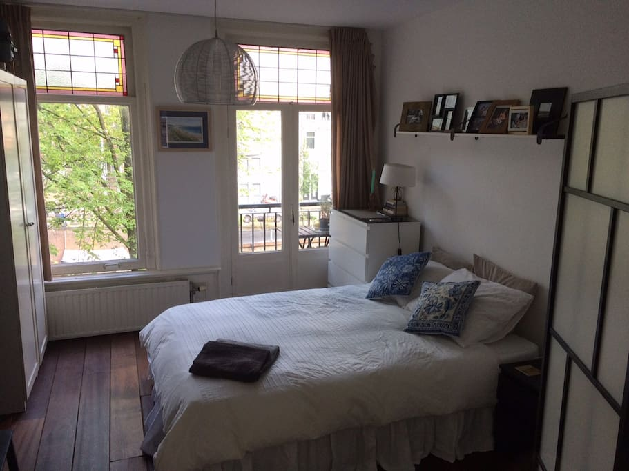 Main bedroom with canal views