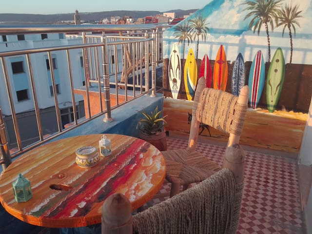 Berber style Ocean view apartment Private terrace