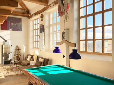 Converted Old Village School for two couples.