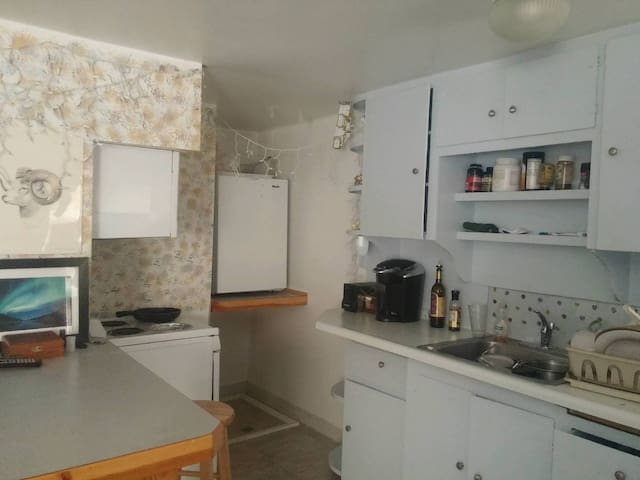 1 bedroom apartment with  bath, kitchen, L.R, W.D.
