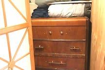 Dresser drawers.