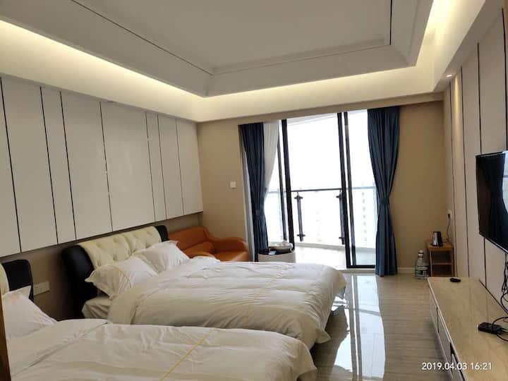 香湖公寓海景双人房