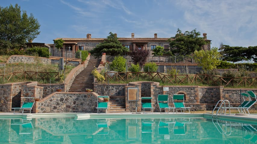 Farmhouse in the hill overlooking Lake Bolsena