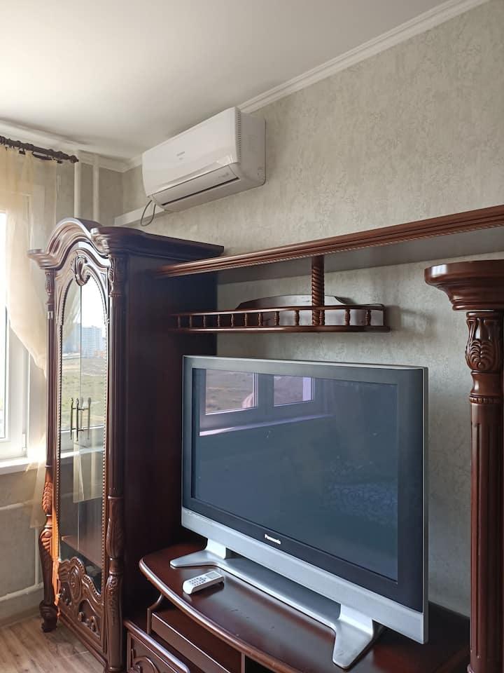 Комфортное жилье для семьи. До моря 2км. ТЦ 800м.