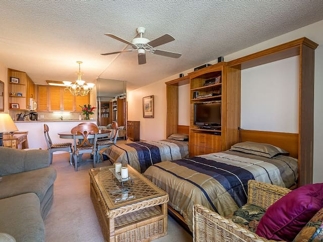 Kamaole Sands 7-205, 1Bd+2 Twin Murphy Beds