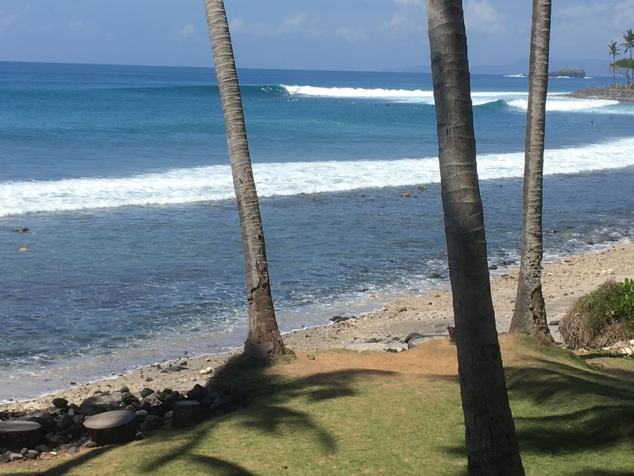 Jari Surf Beach 5 minutes by motorbike or car also known as Magic Point .It has a right hand surf break