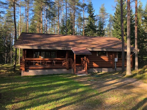 Уютный коттедж на берегу лесного озера