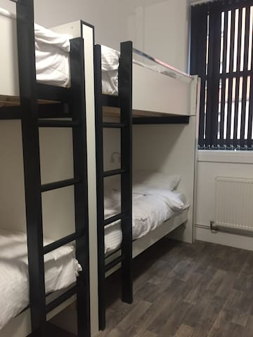 One Bed in 8 Male Bunk Bed Dormitory Room.