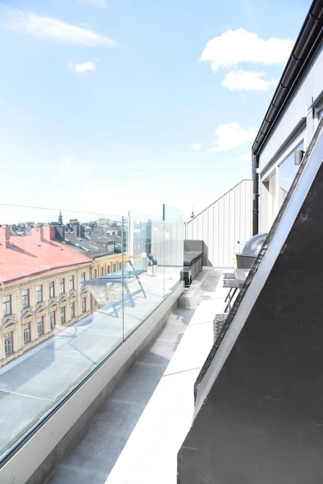 Terrace 15m2 - Sun all day with beautiful view of Stockholm