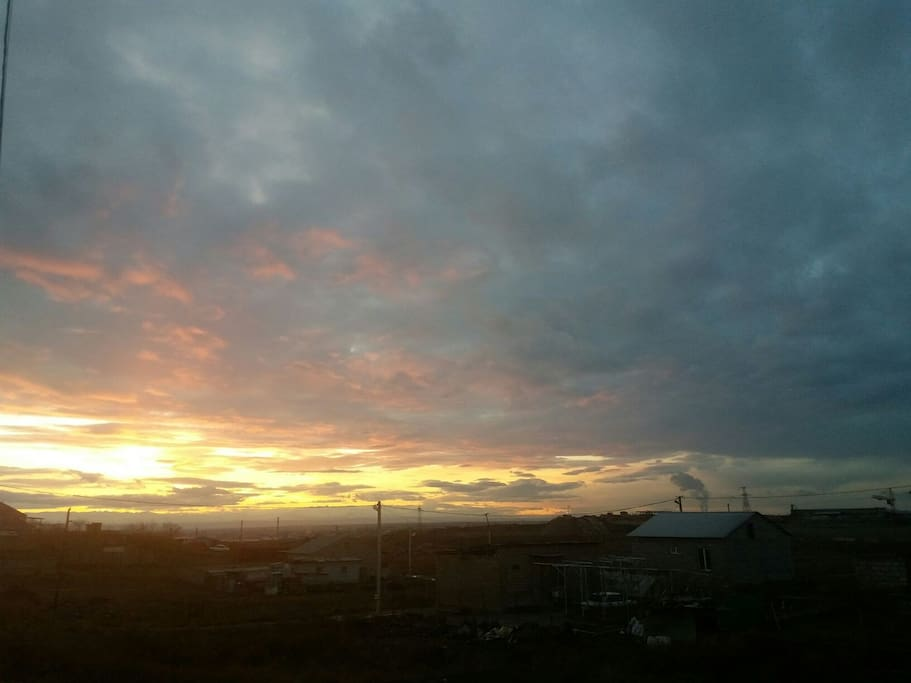 sunset in front of my home