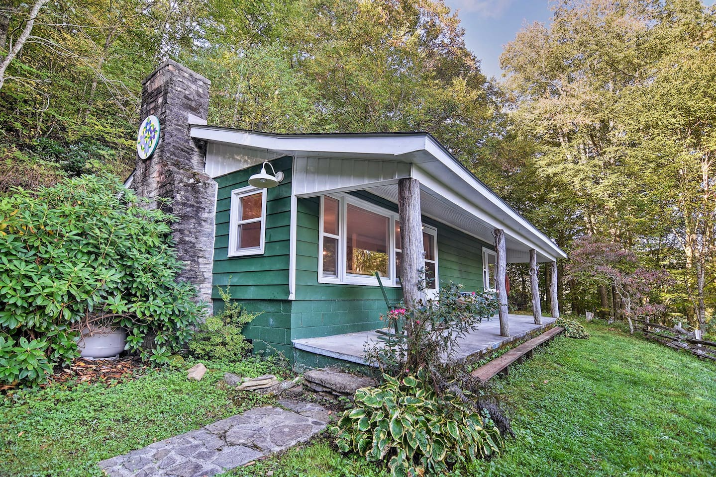 You'll feel fully immersed in mountain charm at this Maggie Valley cabin.