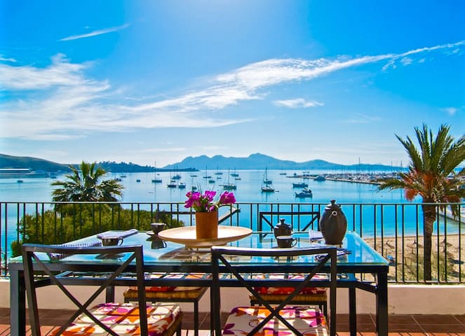 Spectacular views and location in the port - Port de Pollença - Apartemen