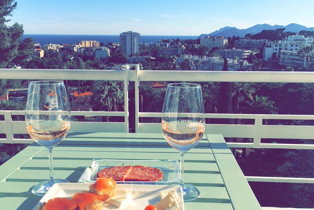 Rosé wine with a view :)