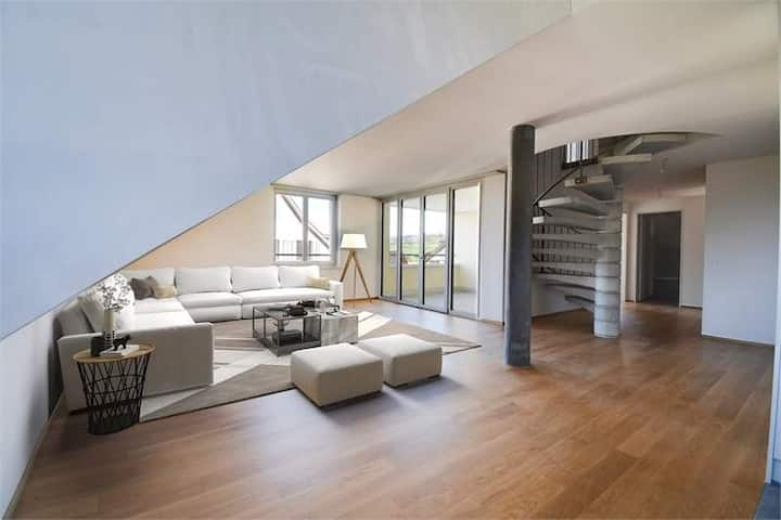 Zimmer in moderner Attika-Dachwohnung nahe Zug