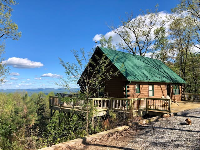 Two Bucks Cabin at Buck Mountain, NC (Two views!)