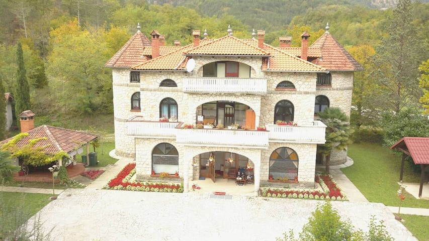 A unique house in the form of a castle room 2