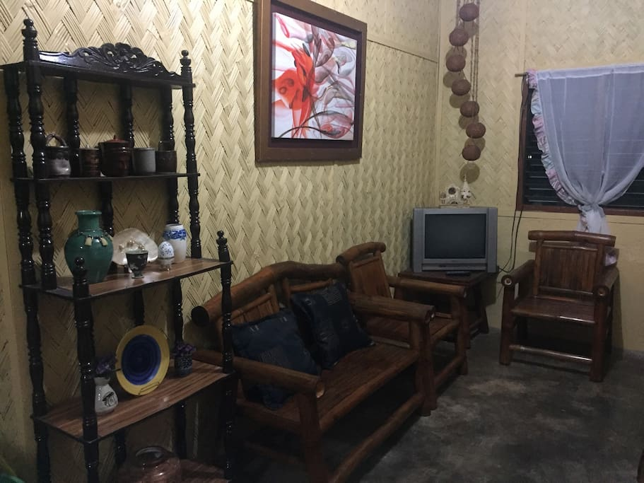 Common living room with cable TV