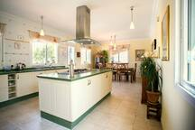 Huge, bright, well equipped kitchen