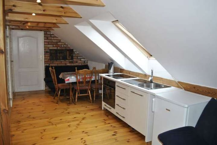 Two-bedroom apartment in the attic - Sarbinowo - Apartamento