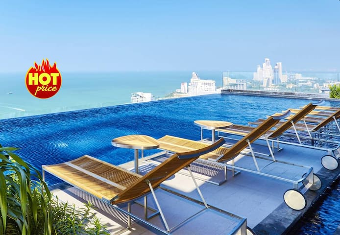 1 BR Sea View in  Pattaya 100 meters to Beach  - Pattaya - Daire