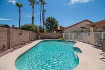 sparkling pool to cool off in the arizona weather
