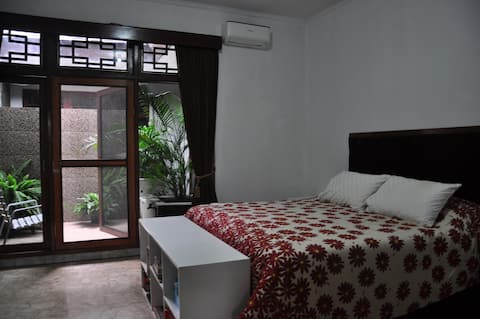 Very spacious bedroom with a private terrace