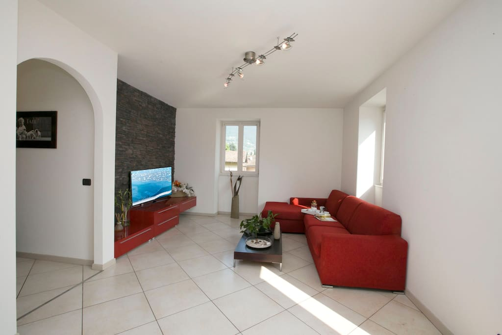 The spacious and bright living room