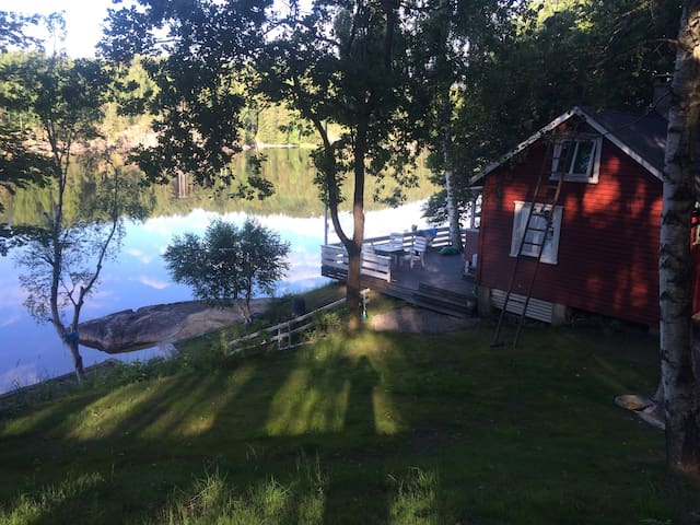 Charming Norwegian wooden cottage - Drangedal - Houten huisje