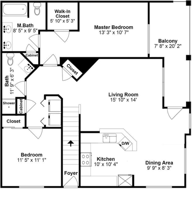 This is The layout of the Condo.