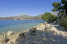 beach Slano 450 meters from the house