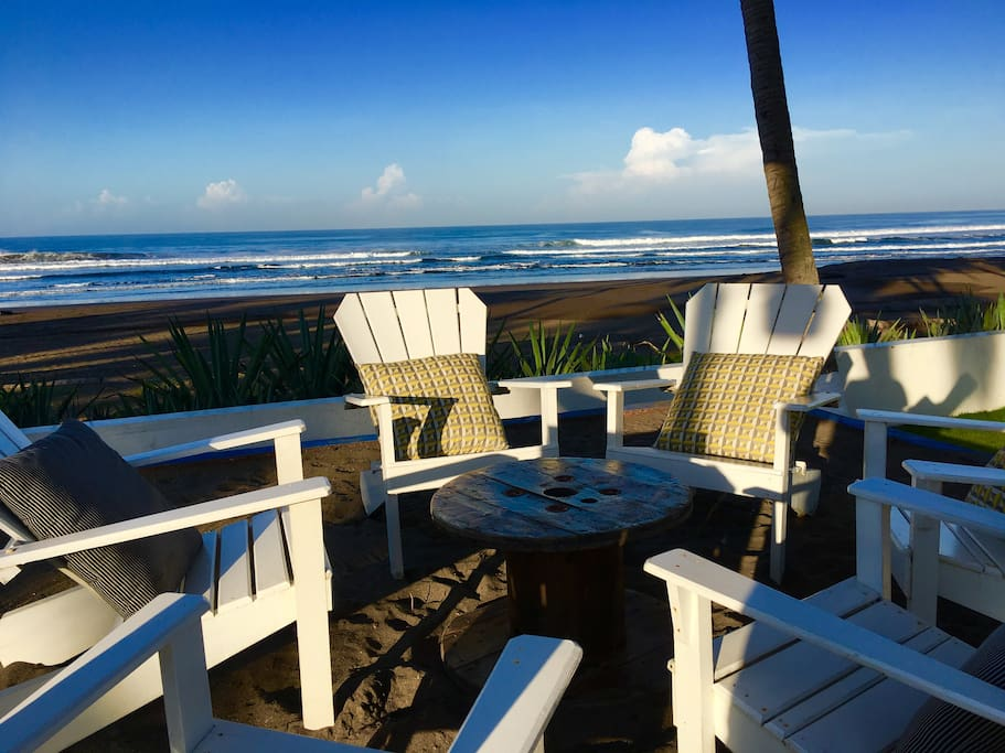 Oceanfront Deck!  Once you sit down... You will not want go elsewhere...