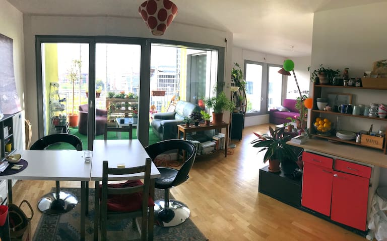Chambre spacieuse&lumineuse grand appart+ terrasse