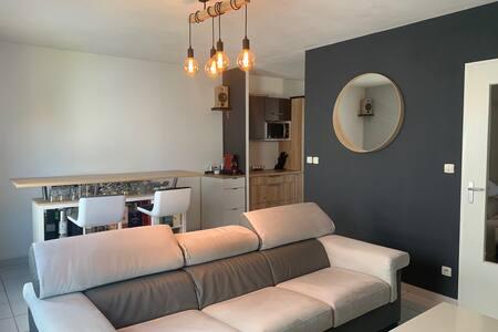 Confortable maison et jardin 15 min de la gare TGV