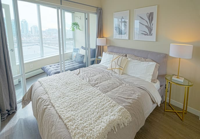 Bedroom in Shared Downtown Condo: Pool, Gym & More
