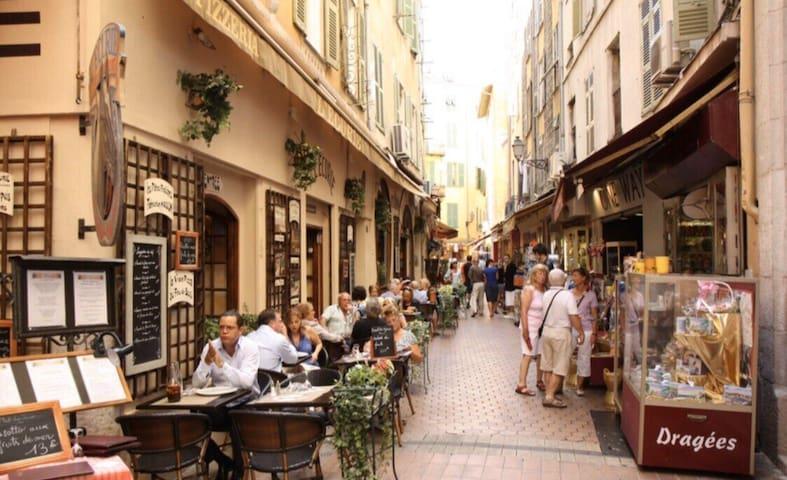 Vieux Nice / Marché / Appartement cosy pour 4