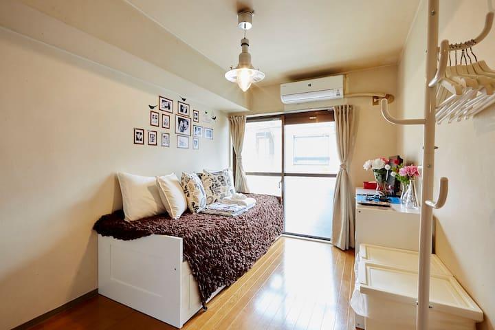 Free WIFIHeart of Shinjuku! Cozy room H6 - Shinjuku-ku - Departamento