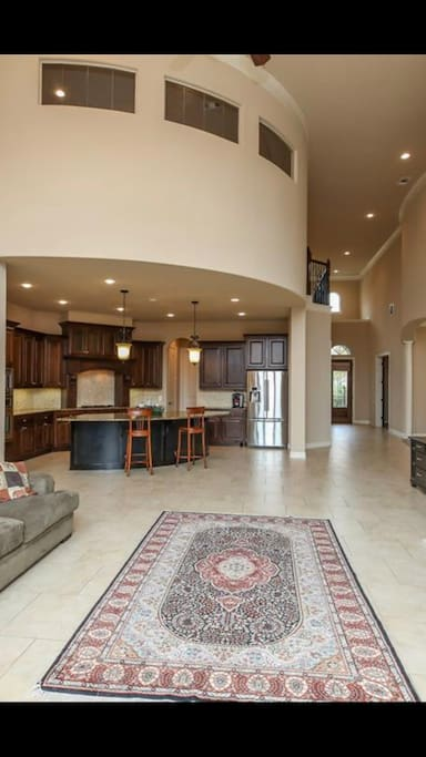 Huge downstairs living room and kitchen for guest to share.