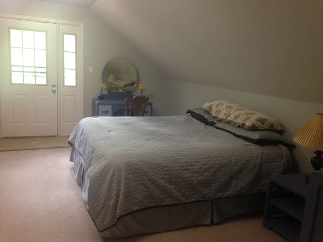 Upstairs bedroom and bath. - Clarksville