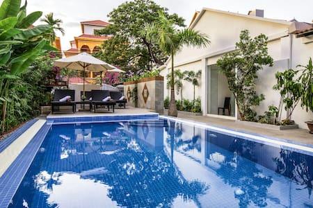 Pub Street Private Villa Pool SPA WiFi 15Mb #1/5 - Krong Siem Reap - 별장/타운하우스