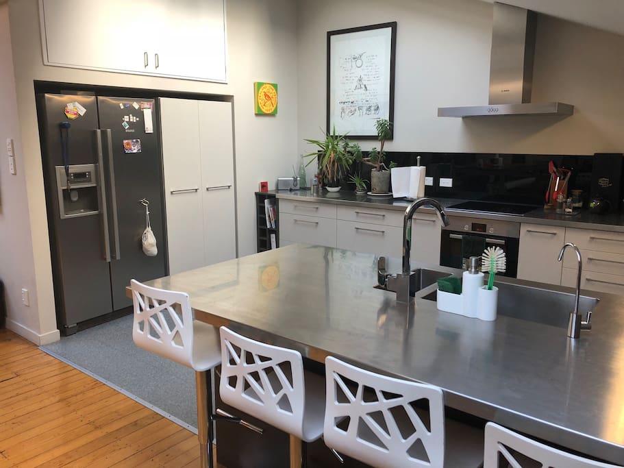 Good sized fridge and breakfast buffet area