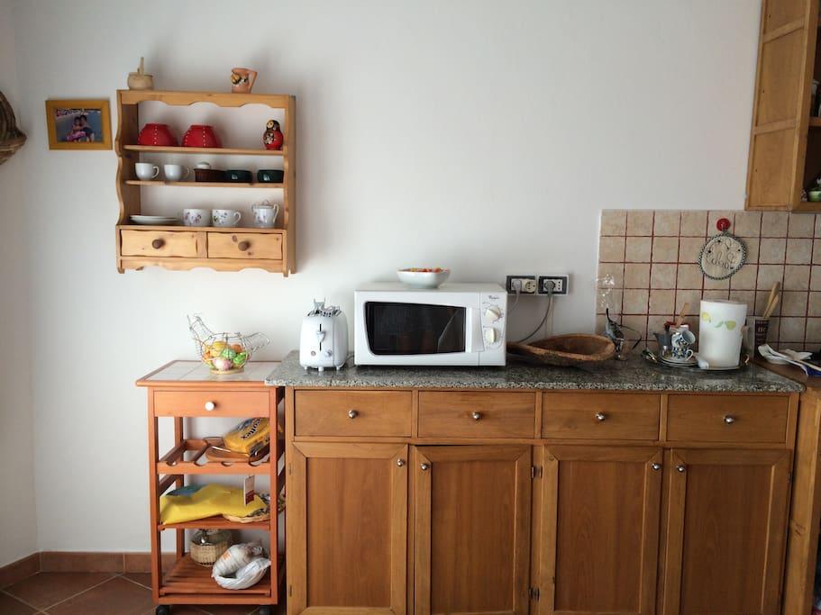 Particolare della cucina