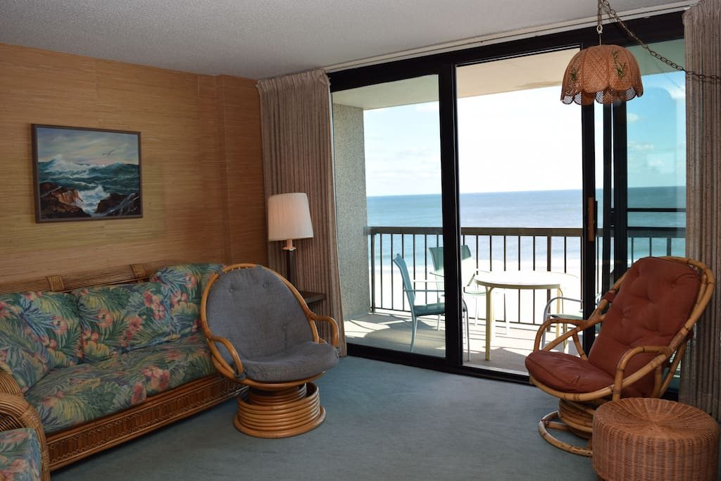 Floor-to-ceiling, wall-to-wall ocean view and balcony