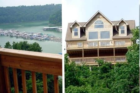 Lake House overlooking Lee's Ford Marina