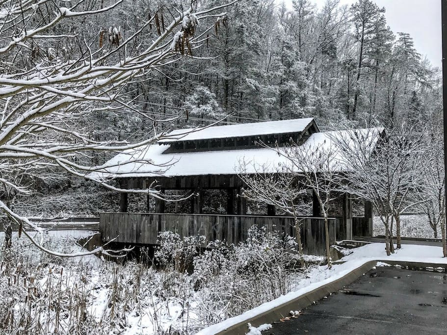 The entrence to the Covered Bridge
