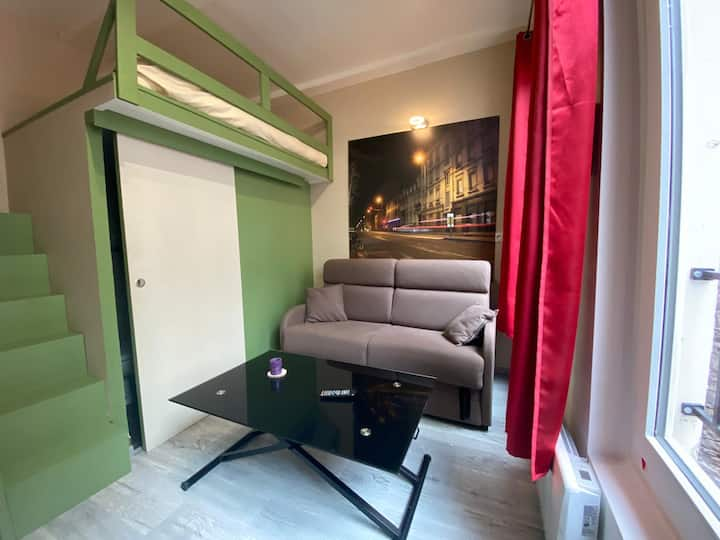 Hôtel de Ville : Idéal  pro/calme/accès buanderie
