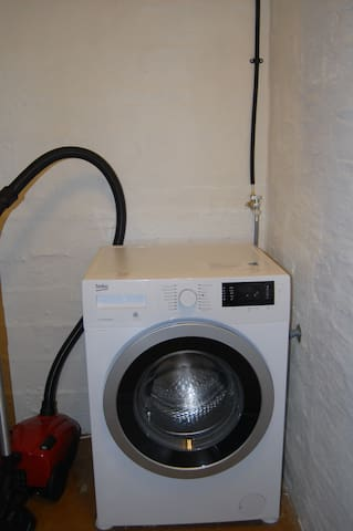 We have a washing machine if you want to wash clothes. Also a clotheshorse to dry your clothes on.