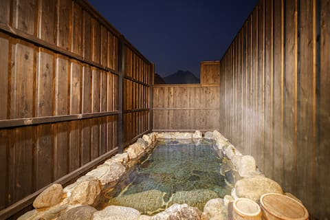 「Shiki」Tidy 2 story-house ♨Outdoor Hot spring♨View from Hot spring is brilliant★Same price up to 4 people.★